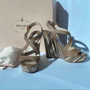 Prada Wedge Sandals 36.5